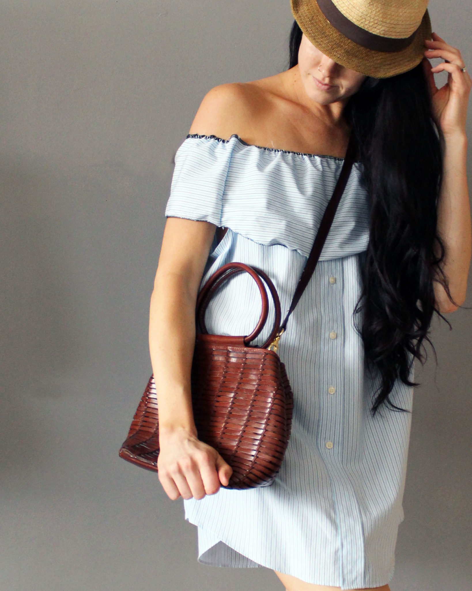 Make a mini dress from a men 39 s shirt creative fashion blog for Make a dress shirt