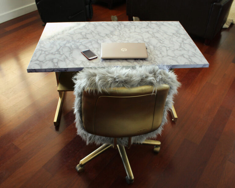 The glam recycled office DIY